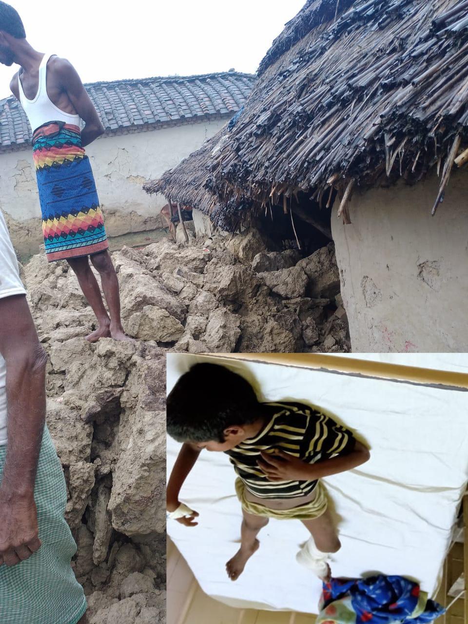 हिंदी समाचार | दीवार गिरने से महिला व उसके दो...