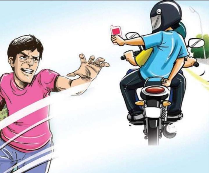 हिंदी समाचार   बाइक सवार ने छीना महिला का...