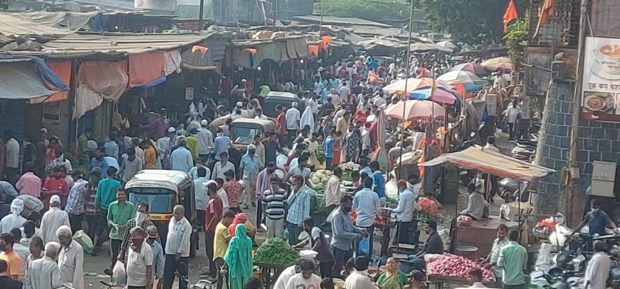 हिंदी समाचार | भाजी मार्केट में जमकर उड़ाई...
